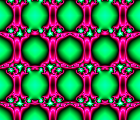 Fractal: Flowers on Pink Ribbons fabric by artist4god on Spoonflower - custom fabric