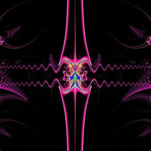 Fractal: Ribbons on Black Velvet