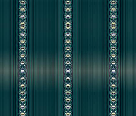 Fractal: Aqua Butterflies and Stripes fabric by artist4god on Spoonflower - custom fabric