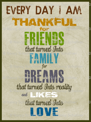 Thankful Wal Decal