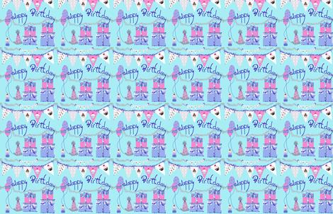 Happy Birthday Celebration fabric by karenharveycox on Spoonflower - custom fabric