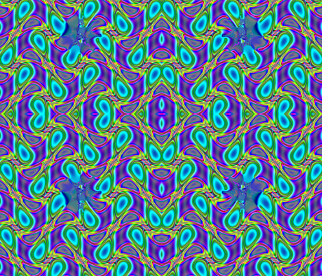 Fractal: Neon Sparks fabric by artist4god on Spoonflower - custom fabric