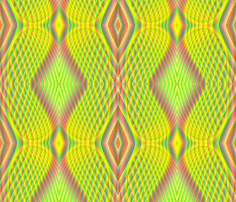 Fractal:  Neon Yellow Butterfly Wings fabric by artist4god on Spoonflower - custom fabric