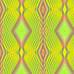 Fractal:  Neon Yellow Butterfly Wings