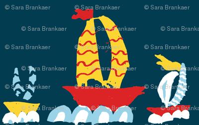Three Boats in a Row Marine
