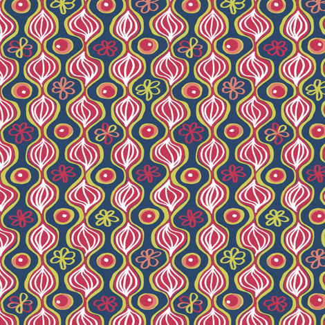 Matisse 4 with Onions: Or are those leaves?  Small version fabric by tallulahdahling on Spoonflower - custom fabric
