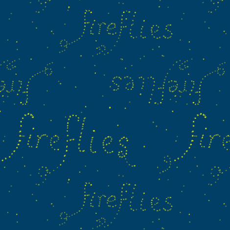 Fireflies, literally (limited palette) by Su_G fabric by su_g on Spoonflower - custom fabric