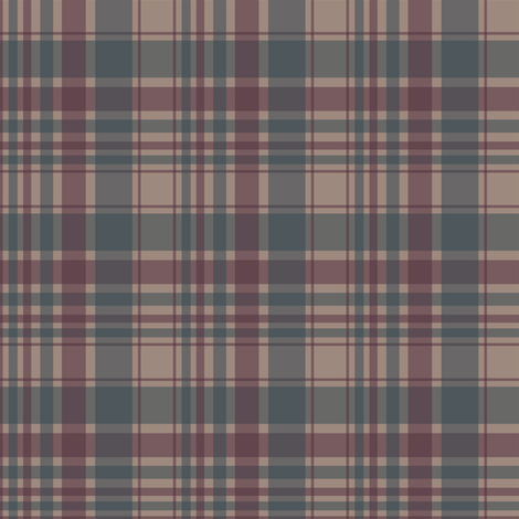 Berry/tan/blue plaid fabric by alainasdesigns on Spoonflower - custom fabric