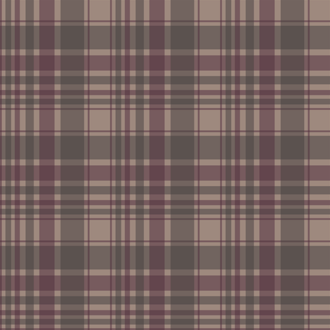 berry/tan/brown plaid fabric by alainasdesigns on Spoonflower - custom fabric