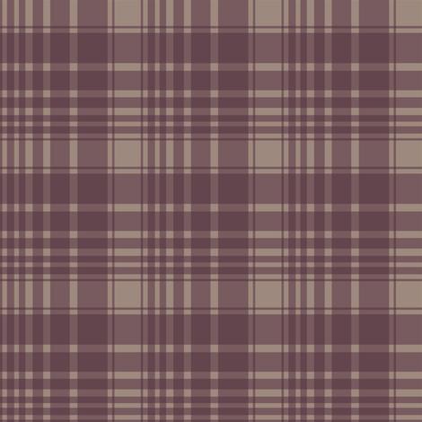 berry/tan plaid fabric by alainasdesigns on Spoonflower - custom fabric