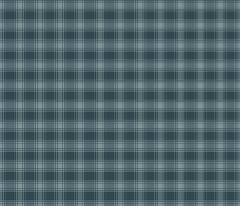 Thin Blue Stripe / Blue Plaid fabric by alainasdesigns on Spoonflower - custom fabric