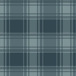 Thin Blue Stripe / Blue Plaid