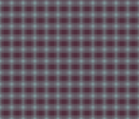 Thin Blue Stripe/ Berry Plaid fabric by alainasdesigns on Spoonflower - custom fabric