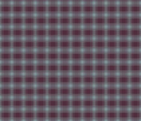 Thin Blue Stripe/ Berry Plaid fabric by alainasdesigns on Spoonflower - custom fabric