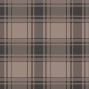 Thin Brown Stripe / Brown Plaid
