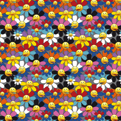 Kawai_Chickens_pattern fabric by vannina on Spoonflower - custom fabric