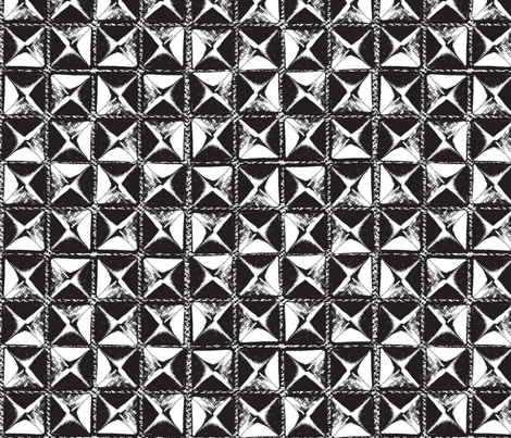 studs black and white fabric by susiprint on Spoonflower - custom fabric