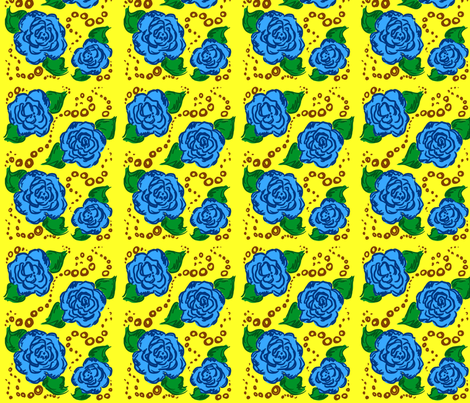 blue! roses fabric by nicolej on Spoonflower - custom fabric