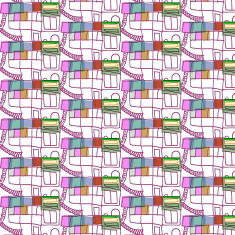 Busy Fun on the Escalator fabric by boris_thumbkin on Spoonflower - custom fabric