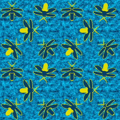 FireflyBugInvasion-revised fabric by grannynan on Spoonflower - custom fabric