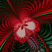 Fractal: Christmas Butterflies