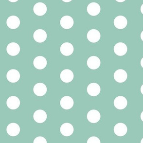 White Dots on Teal