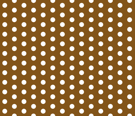 White Dots on Brown fabric by jennifercolucci on Spoonflower - custom fabric