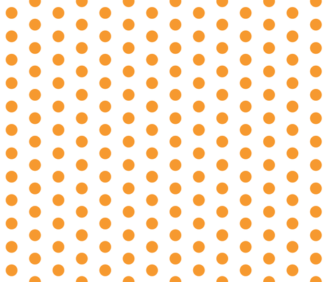 Orange Dots on White fabric by jennifercolucci on Spoonflower - custom fabric