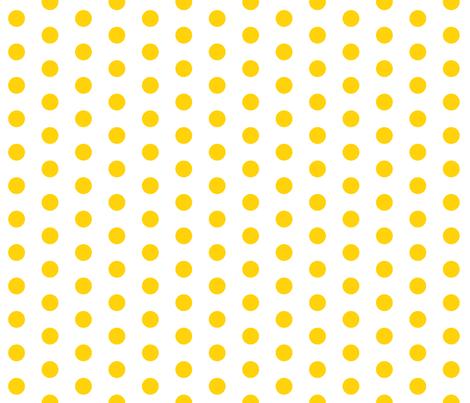 Yellow Dots on White fabric by jennifercolucci on Spoonflower - custom fabric