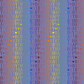 Birthday Rainbow - Blue