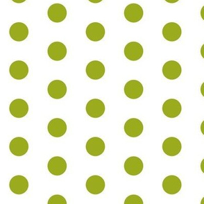 Green Dots on White