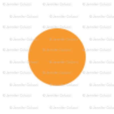 Small Orange Dots on White
