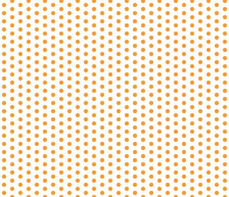 Small Orange Dots on White fabric by jennifercolucci on Spoonflower - custom fabric