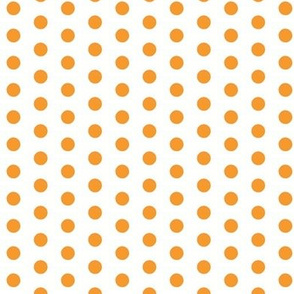 Small Orange Dots on White