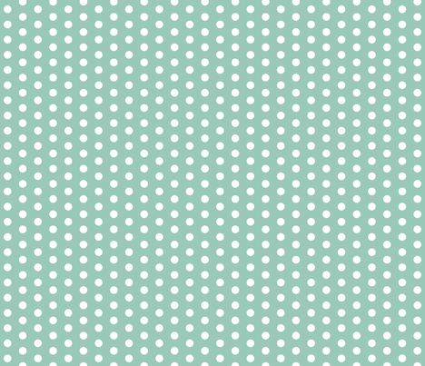 Small White Dots on Teal fabric by jennifercolucci on Spoonflower - custom fabric