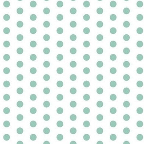 Small Teal Dots on White