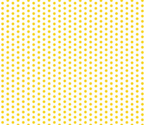 Small Yellow Dots on White fabric - jennifercolucci - Spoonflower