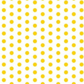 Small Yellow Dots on White