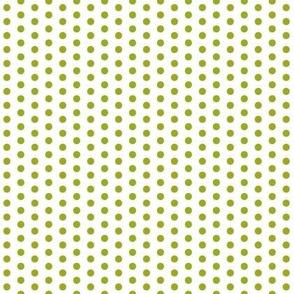Tiny Green Dots on White