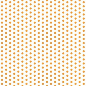 Tiny Orange Dots on White