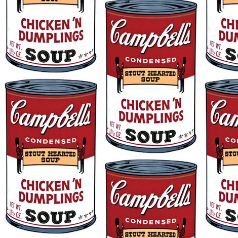 Retro Campbell's Soup fabric by pixeldust on Spoonflower - custom fabric