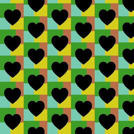 House of Hearts fabric by boris_thumbkin on Spoonflower - custom fabric