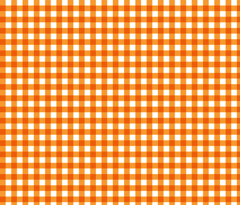 Orange Gingham fabric by jennifercolucci on Spoonflower - custom fabric