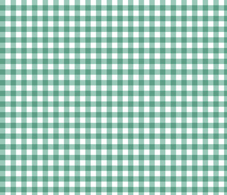 Teal Gingham fabric by jennifercolucci on Spoonflower - custom fabric