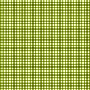 Tiny Green Gingham