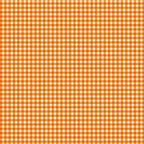 Tiny Orange Gingham