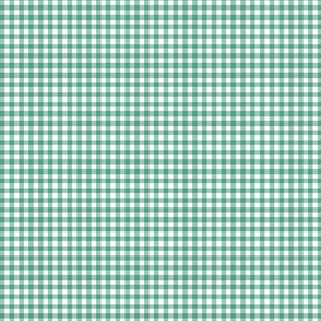 Tiny Teal Gingham