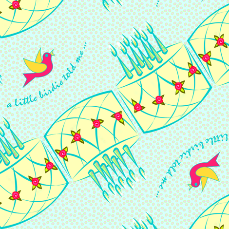 a little birdie told me fabric by glimmericks on Spoonflower - custom fabric