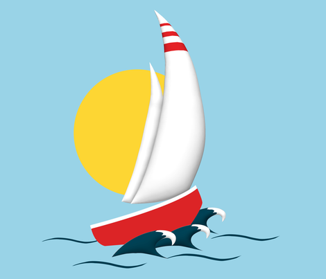 Sailing fabric by cine on Spoonflower - custom fabric