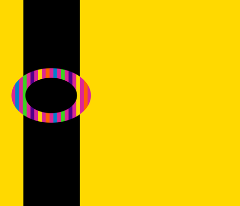 Black Belt on Yellow fabric by anniedeb on Spoonflower - custom fabric